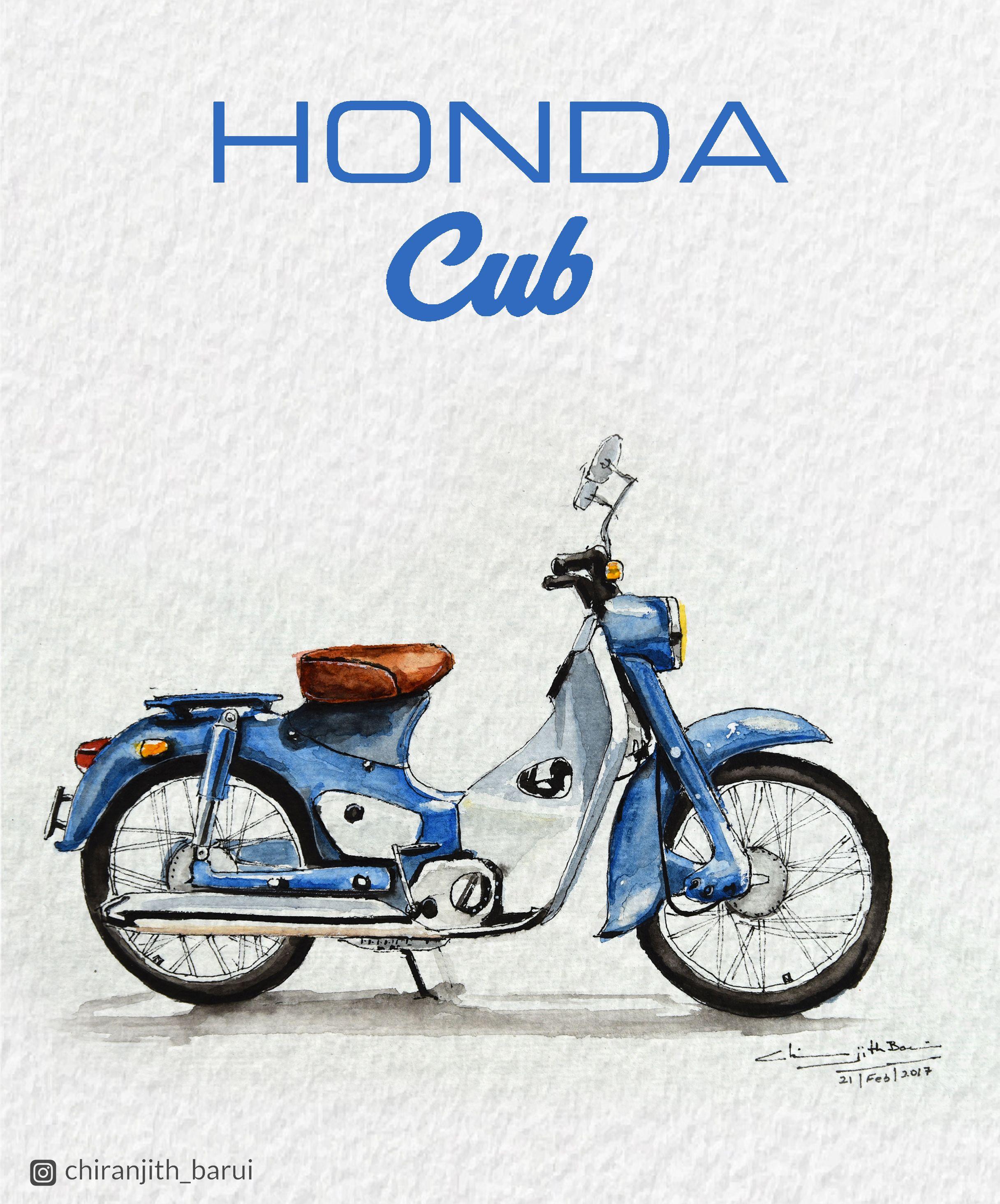 Light And Speedy Honda Super Cub C100 Illustration T Wiring Diagram
