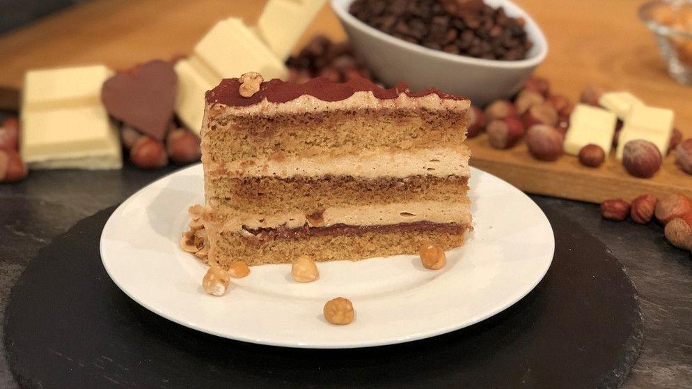 Wir In Bayern Rezepte Kaffee Haselnuss Torte Br De Kuchen Und Torten Creme Fur Torten Tortencreme Rezepte