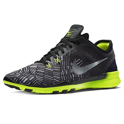 b41671c59074c Nike Free 5.0 Tr Fit 5 Print Womens 704695-017 Black Volt Training ...