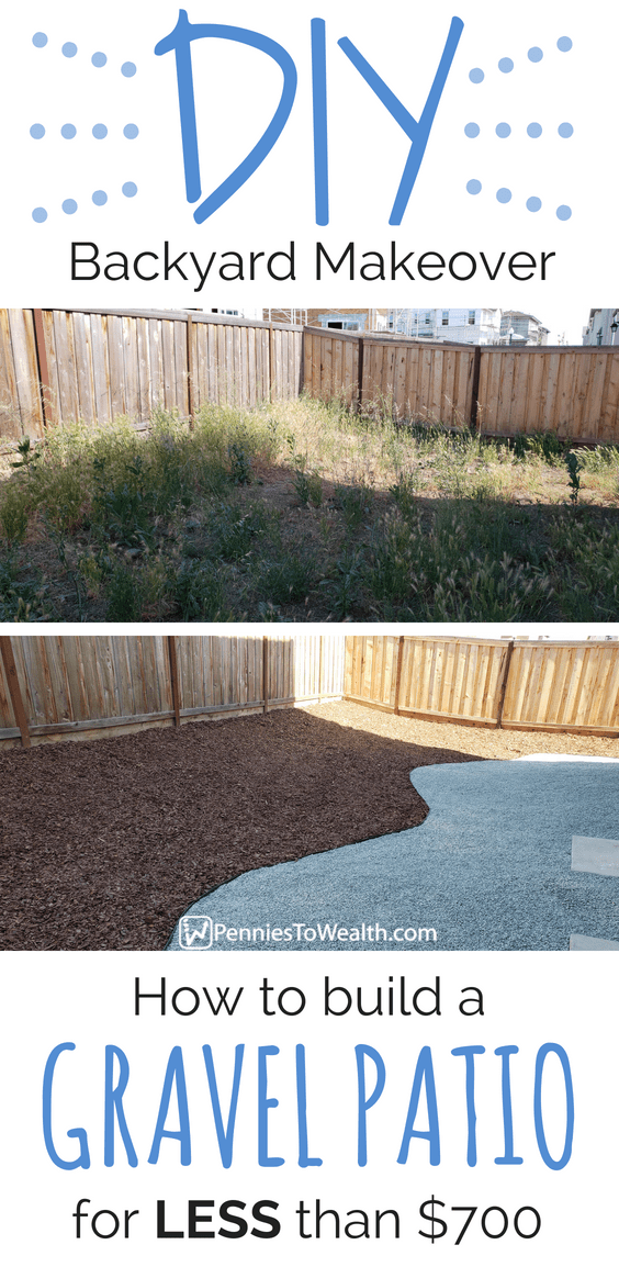 How to Make a Gravel Patio for less than $700 - DIY Backyard Makeover