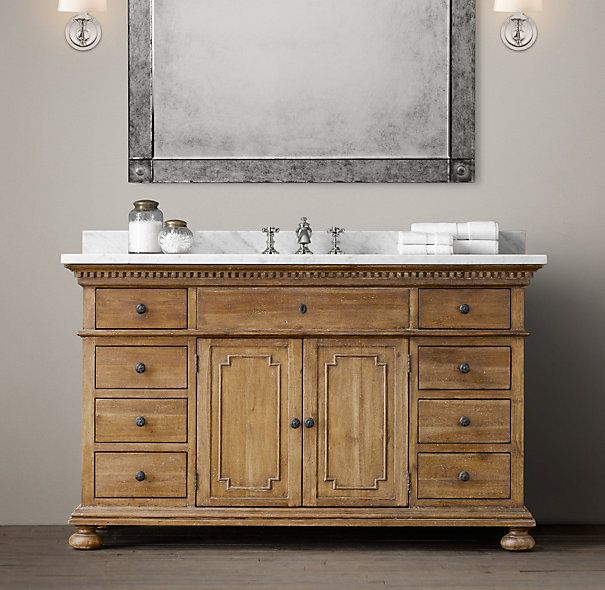 St James Single Extra Wide Vanity Restoration Hardware Bathroom