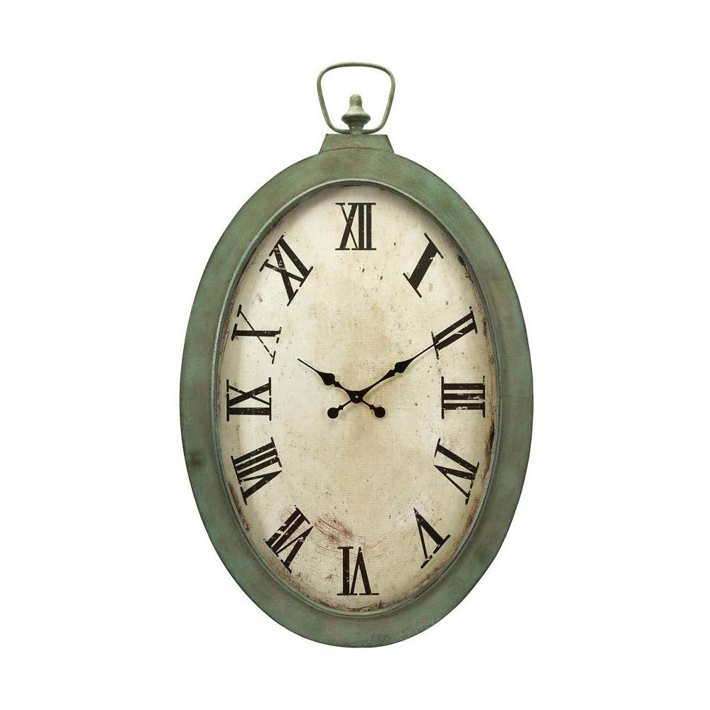 Noran white and green oversized oval wall clock green and white wall clocks clocks and walls