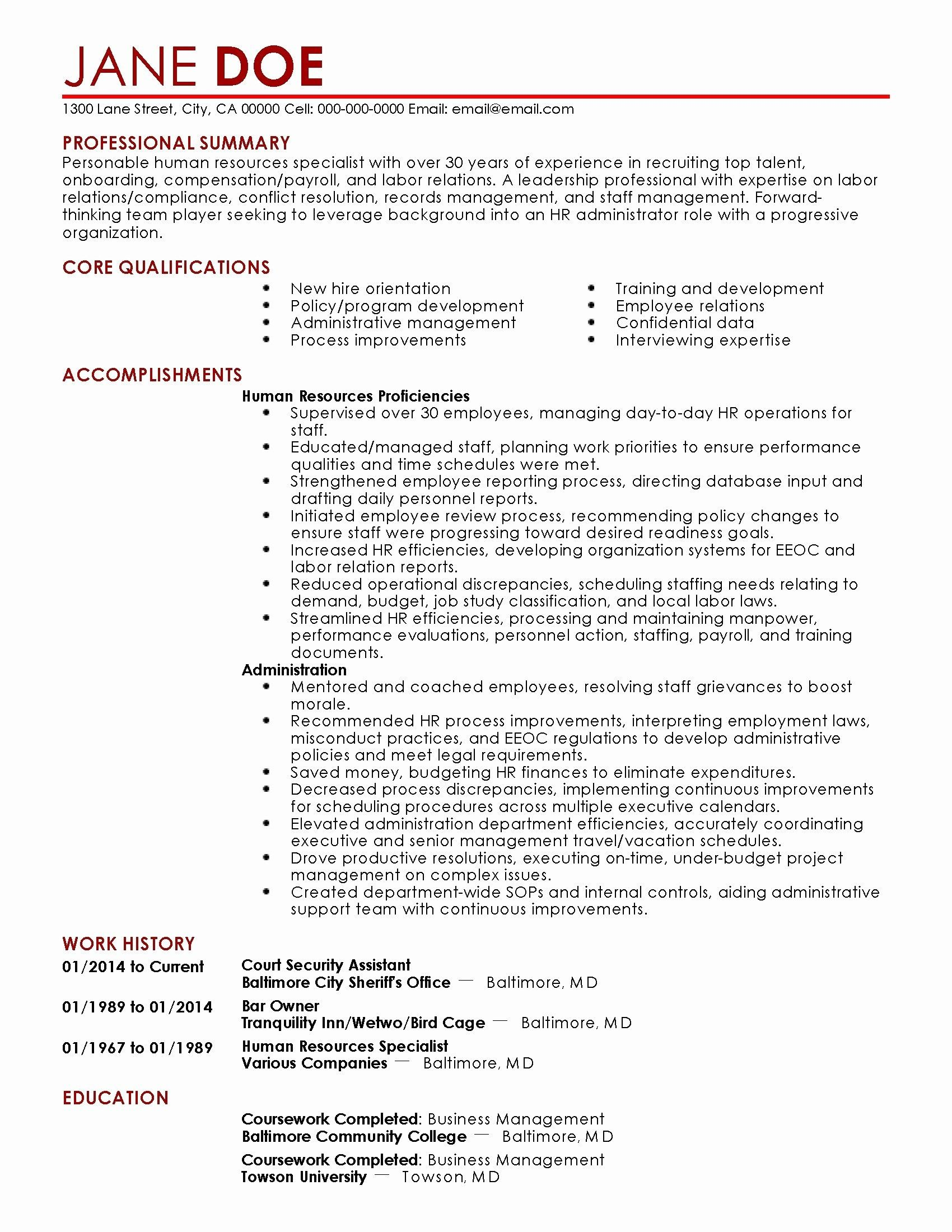 78 elegant photos of resume examples for administration