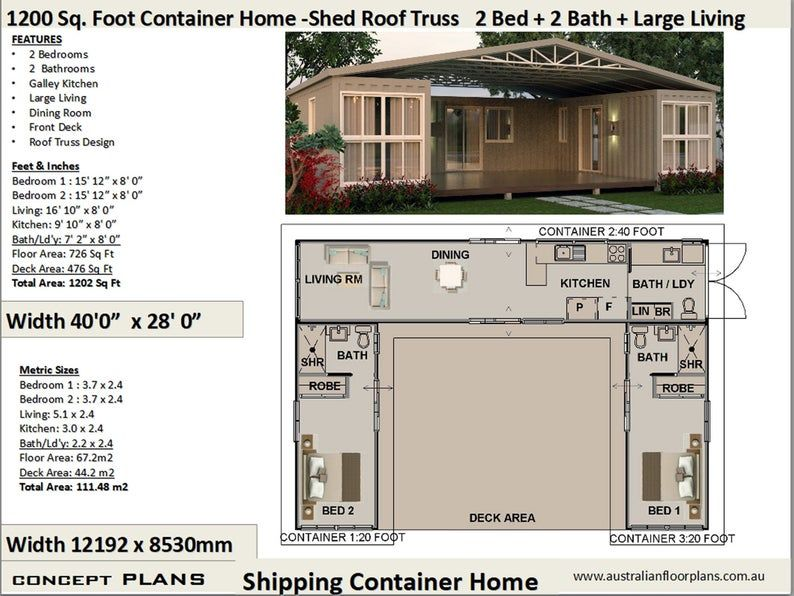 Best Selling Shipping Container house plans 1200 SQ FOOT House Plans Container home