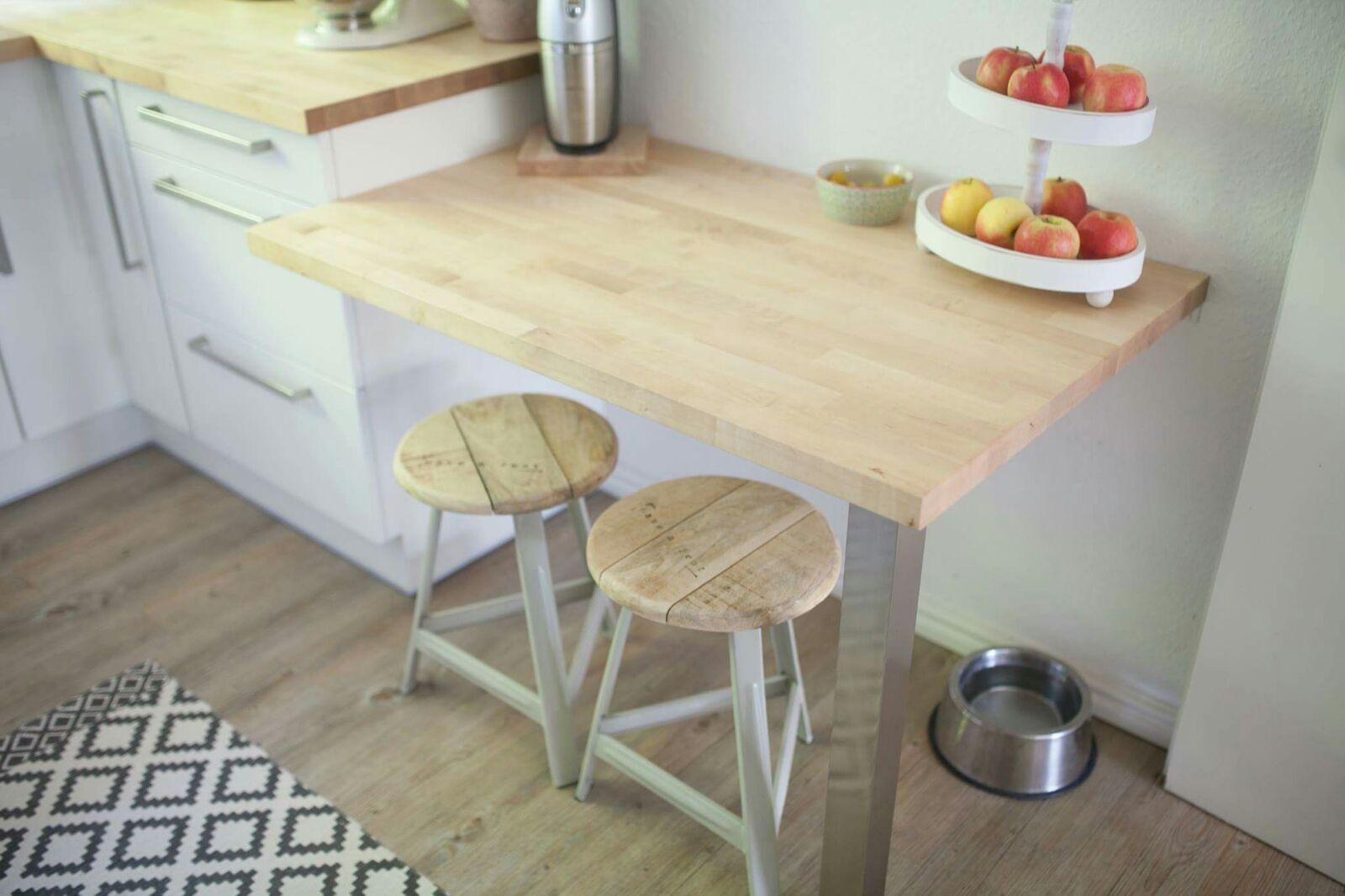 Wohnzimmermöbel echtholz ~ Tischlerei hegger echtholz küchenarbeitsplatte mit beistelltisch