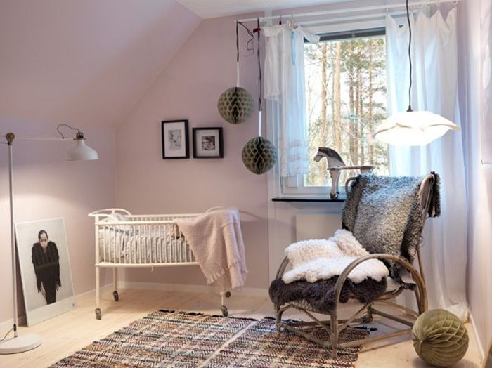 Elegant Warm And Cozy Girl Nursery Rooms   By