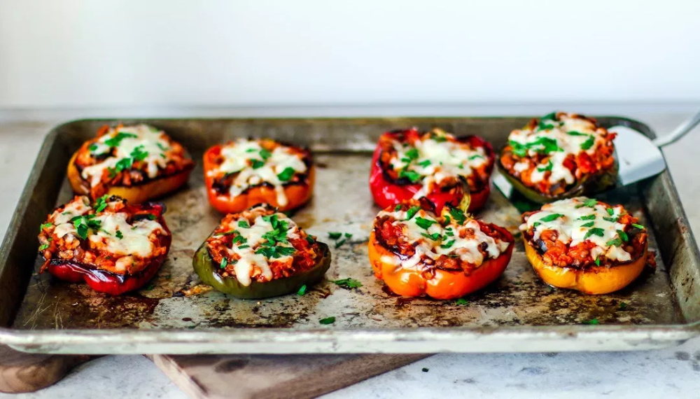 Vegetarian Stuffed Peppers With Lentils Recipe Vegetarian Stuffed Peppers Stuffed Peppers Cooking Stuffed Peppers