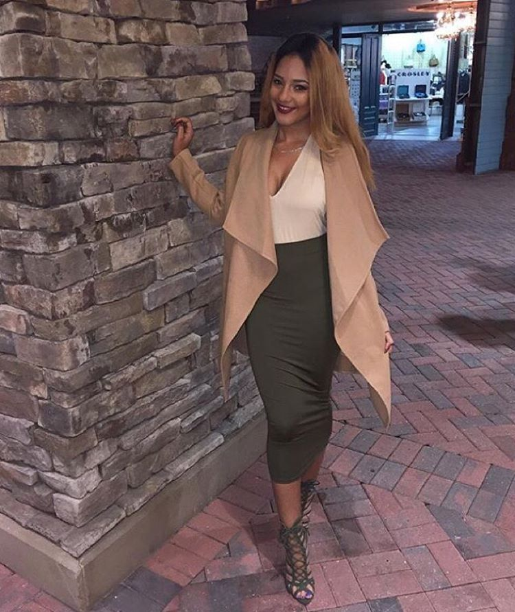 "Make Sure To Tag @FashionNova #FashionNova For A Chance To Be Featured! Look How Amazing Our #NovaBabe, @l0rdjai Looks In FN!  IF your profile is private, please DM us your HOTTEST pic  Search: ""Manhattan Coat - Khaki"" Search: ""Bare Minimum Bodysuit - Nude"" Search: ""Olive Oil Skirt - Olive"" Search: ""Most Wanted - Olive"" Heels ✨www.FashionNova.com✨"