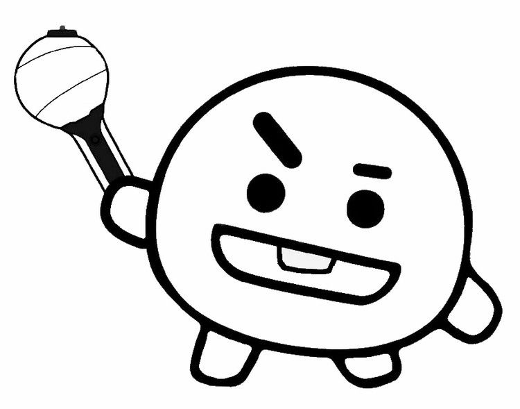 Shooky Cute Coloring Pages Coloring Pages Bts Drawings