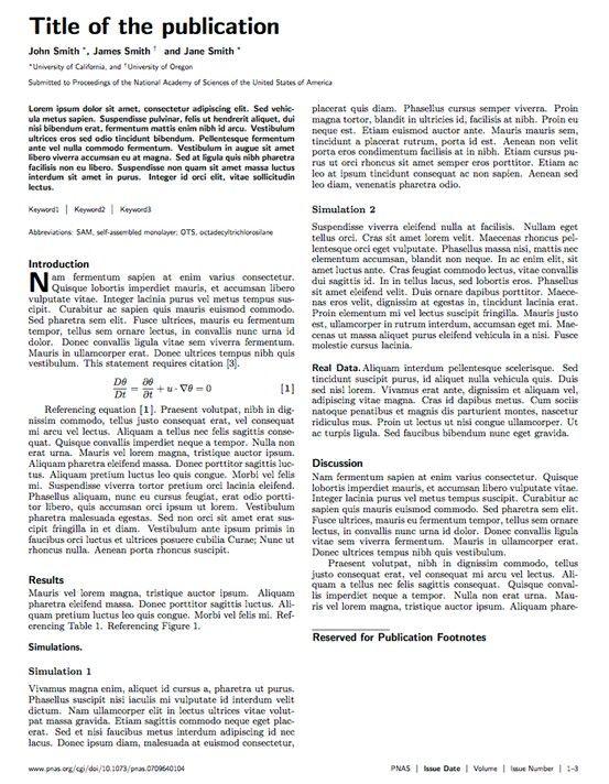 PNAS Journal LaTeX Template Projekty do wypróbowania Pinterest - resume templates in latex