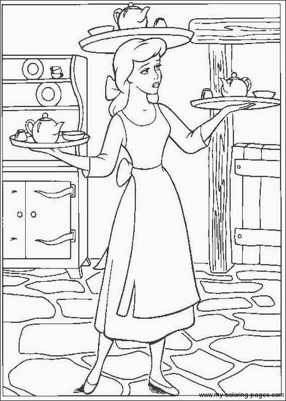 cinderella  cinderella coloring pages princess coloring