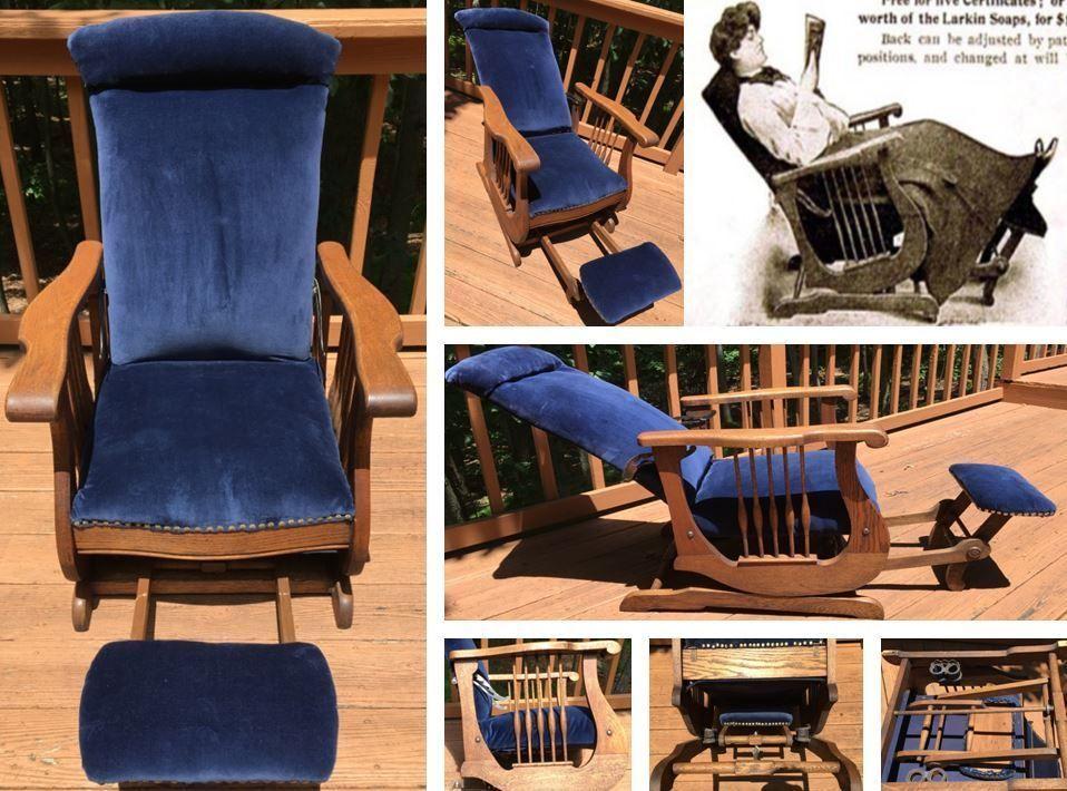 Antique larkin chautauqua reclining rocker morris chair