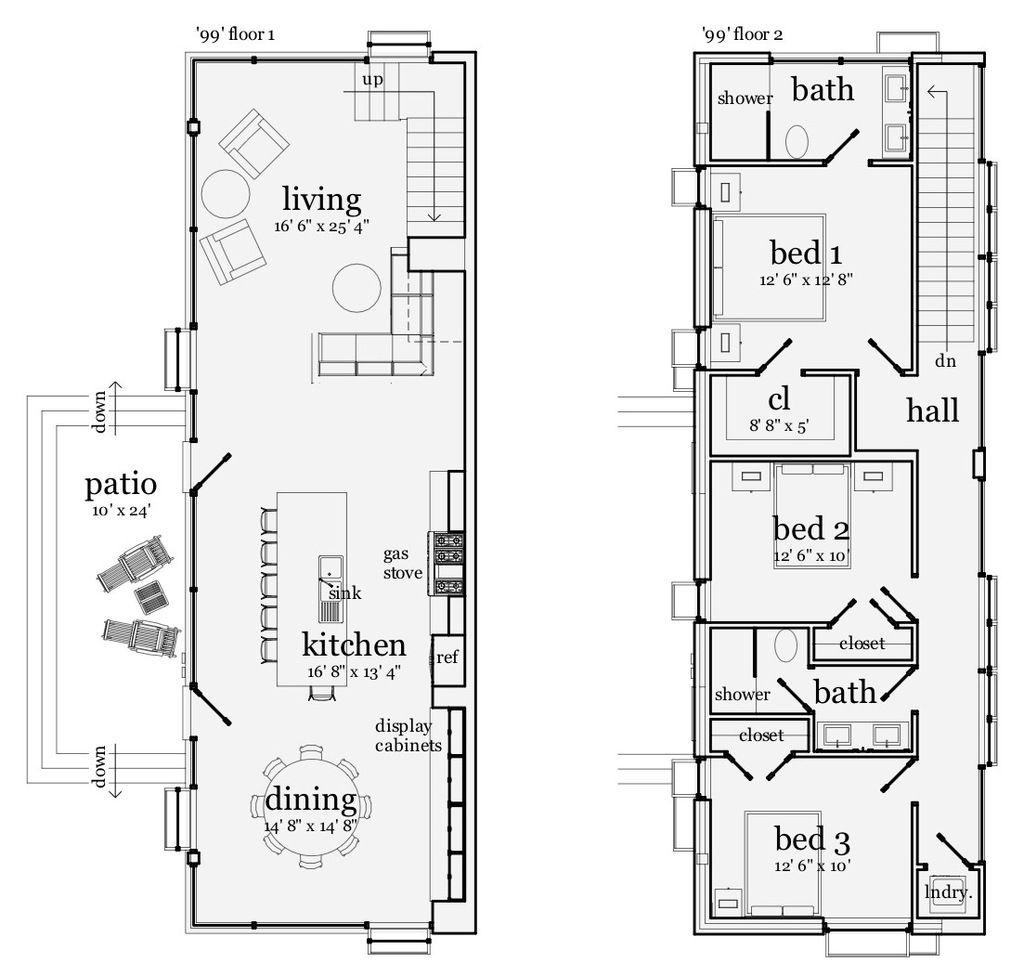 Modern 3 Beds 2 Baths 1968 Sq Ft Plan 64 191 Houseplans Com Double Storey House Plans Unique House Plans Modern Style House Plans
