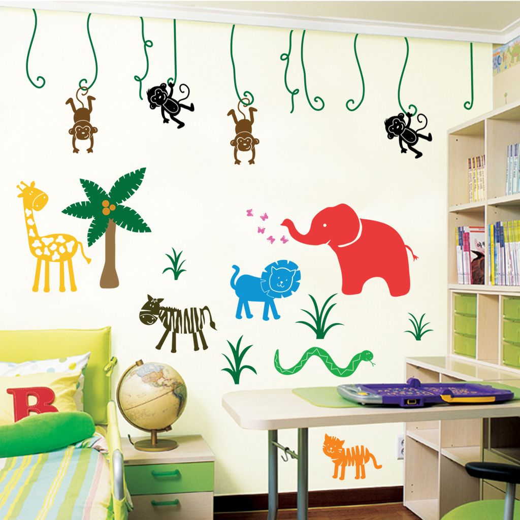Large Jungle Safari Wall Stickers Amp Decals Homepage Parkins