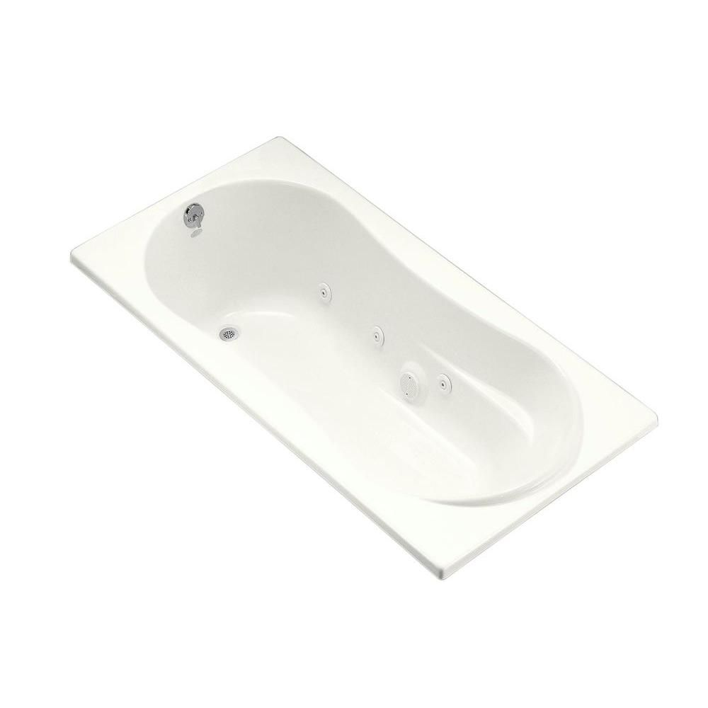 KOHLER 7236 6 ft. Whirlpool Tub with Reversible Drain in Biscuit ...