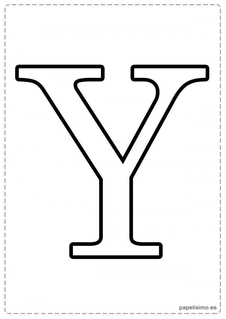 Y Abecedario letras grandes imprimir mayúsculas   moldes de letra ...