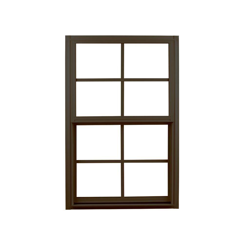 Ply Gem 35 25 In X 59 25 In Single Hung Aluminum Window