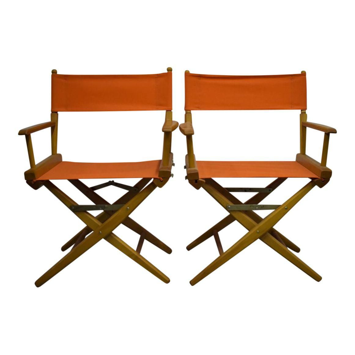 Hermes Orange Canvas Director S Chairs A Pair Lofts # Penguin Lodge Muebles