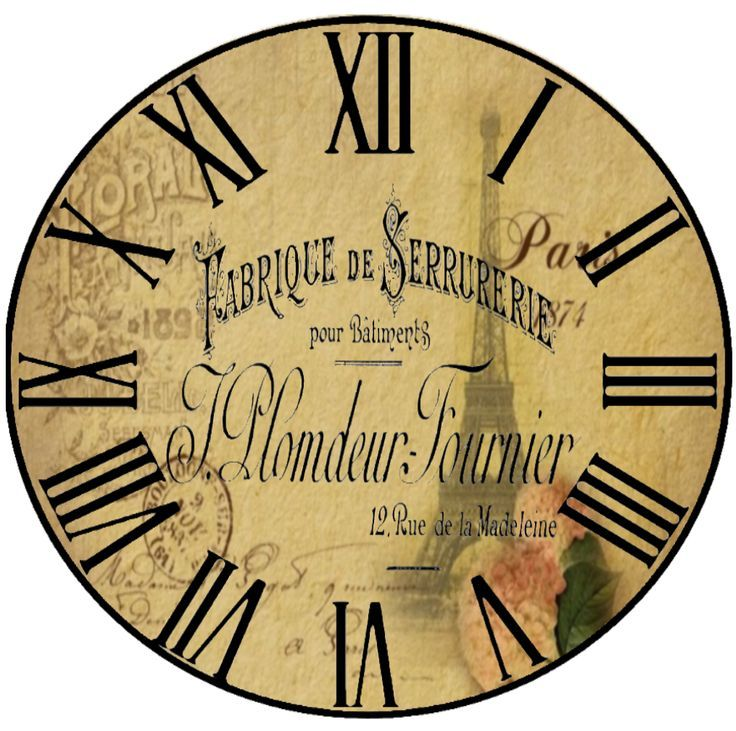 RELOJ VINTAGE циферблаты Pinterest Clocks, Clock faces and - clock face template