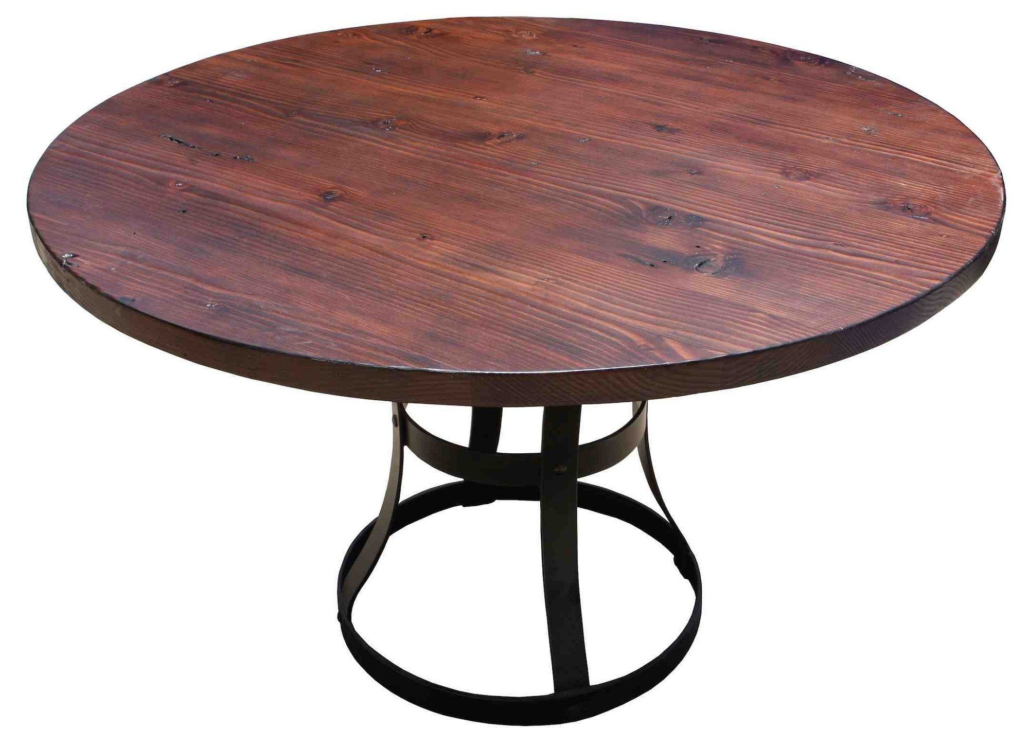 Detroit Dining Table In Reclaimed Wood, 72 Inch Round Dining Table Reclaimed Wood