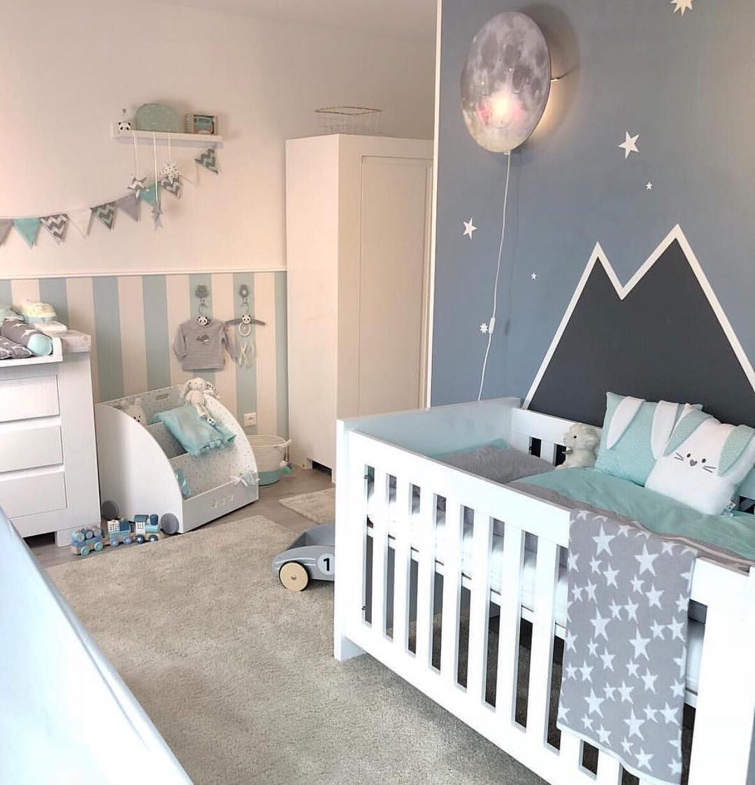 Babyzimmer In Mint Grau Kinderzimmer Inspiration Pinterest