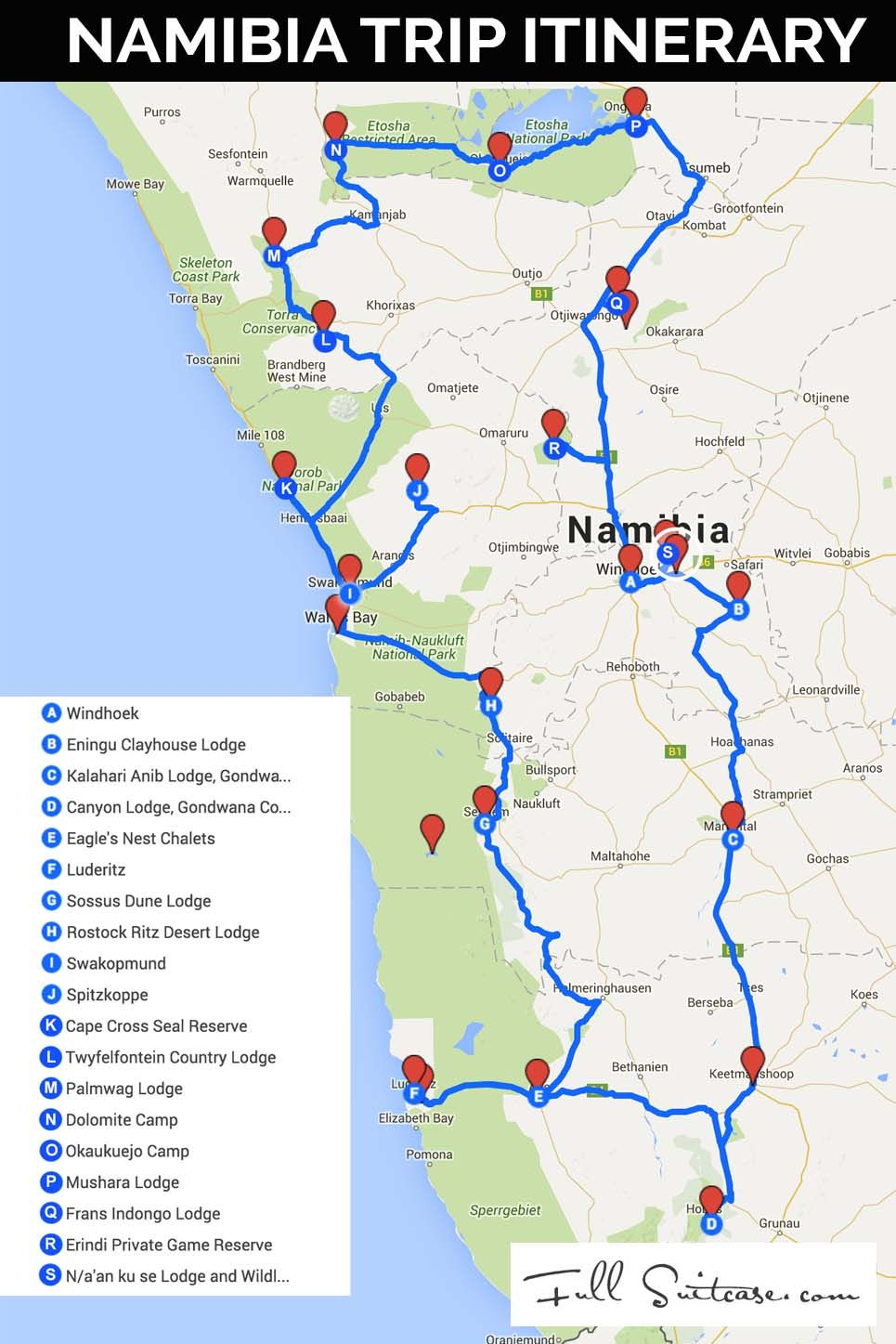 Ultimate Namibia Itinerary (Most Complete Road Trip + Map ...