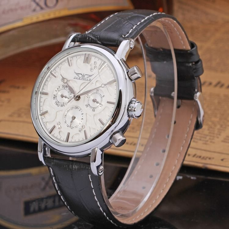 2016 Jargar watches men cheap automatical mechanical watch genuine leather watch wholesale-Forsining Watch Company Limited www.forsining.com