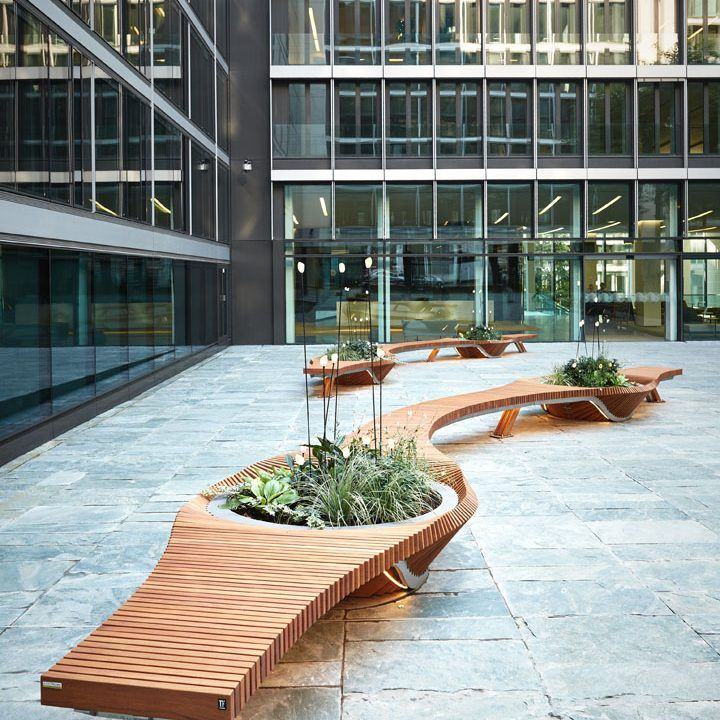 Top Mobilier urbain - design - banc - bench - vegetal - bois - wood  PO26