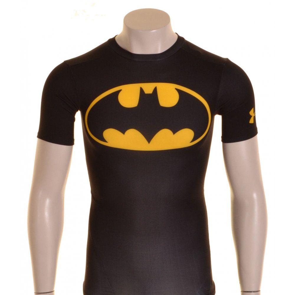 221c0928 Under Armour HeatGear Batman Alter Ego Short Sleeve Compression Baselayer  Black and Yellow - £30 @ ShopRugby.com #Rugby #Baselayer #UnderArmour  #Superhero # ...