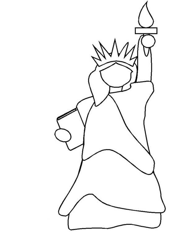 Statue Of Liberty Statue Of Liberty Outline Coloring Page Statue