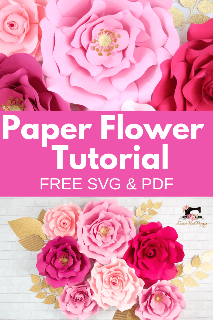 How to Make Large Paper Flowers | Crafts - Sweet Red Poppy