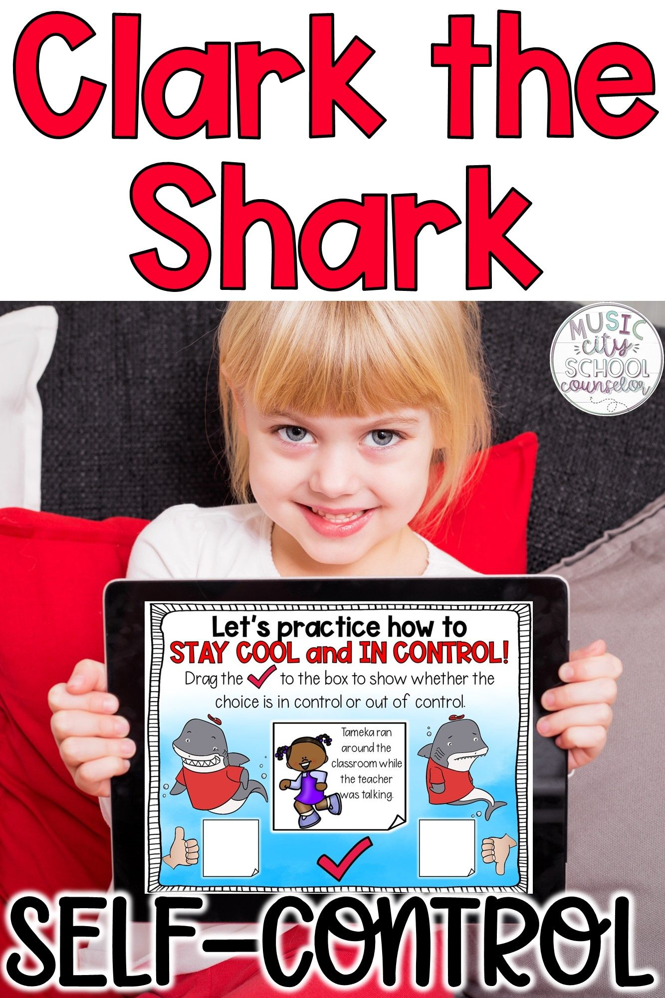 Clark The Shark Self Control Activities Printable Digital