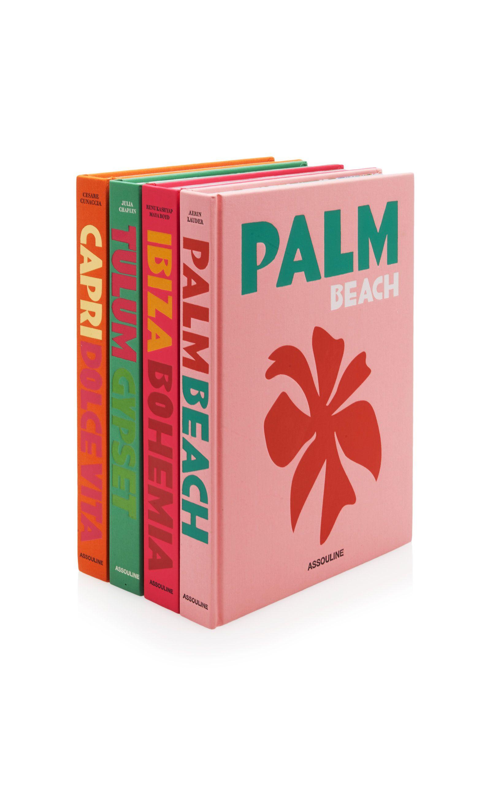 Assouline Capri Dolce Vita, Palm Beach, Tulum Gypset, Ibiza Bohemia Hardcover Book Set