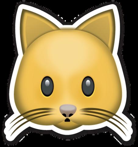 Cat Face Emoji stickers, Emojis and Emoji
