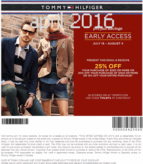 tommy hilfiger online coupon