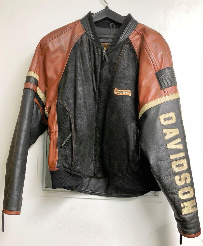 Harley Davidson Vintage Speedway Leather Bomber Jacket Xl Extra Large Dingen Om Te Kopen [ 1000 x 826 Pixel ]