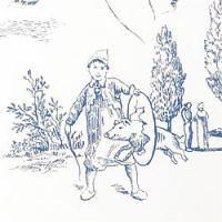 Thibaut Tapete Carnival blue on white (Tapete auf dem Roomset-Foto) | Tapeten Stoffe Vorhangstangen im englischen, schwedischen & französischen, historischen Stil, Landhausstil & von Laura Ashley