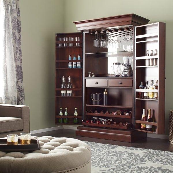 American Ashley Heights Home Bar Wine (Red) Cabinet (Ashley Bar)