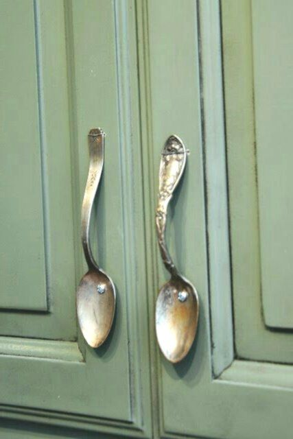 Perfect Handles For Kitchen Cabinets Vintage Spoons