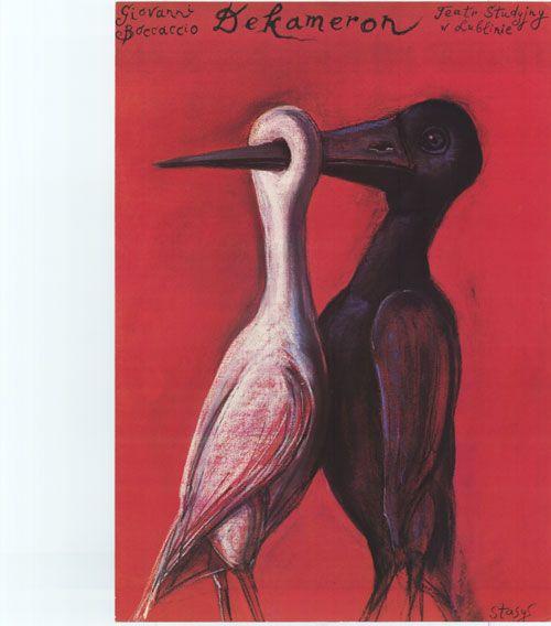 Dekameron. Kunstenaar : Stasys Eidrigevicius. Uit de collectie van Postersquare.