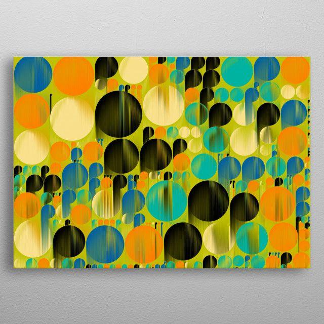 geometrical pattern behind by Rosi Lorz | metal posters - Displate | Displate thumbnail