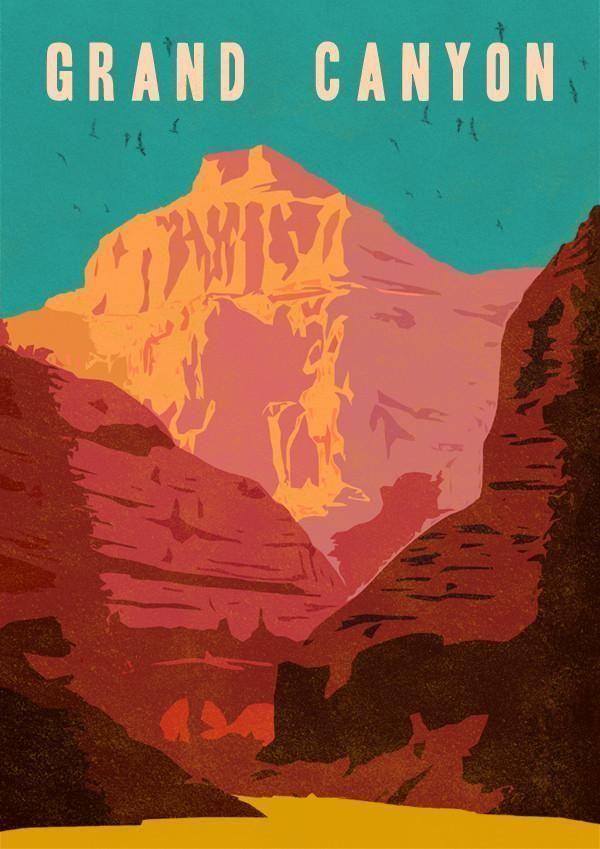 D The Grand Canyon Art Print Home Decor Wall Art Poster