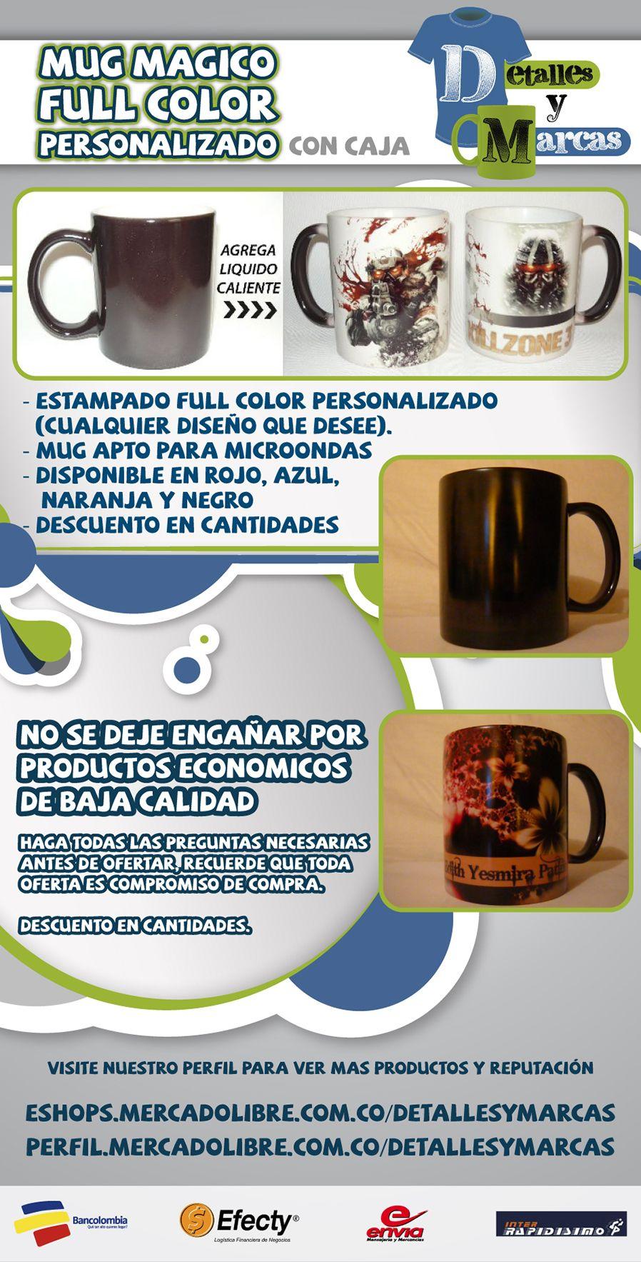 Mug Magico Estampado Personalizado Caja Regalo Publicidad - $ 14.000