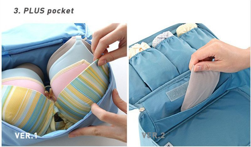 Women's Storage Bag Travel Necessity Accessories Underwear Clothes Lingerie Bra Organizer Cosmetic Makeup Pouch Suitcase Case