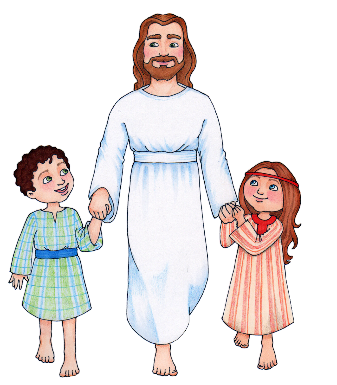 Jesus And Children Clip Art Free