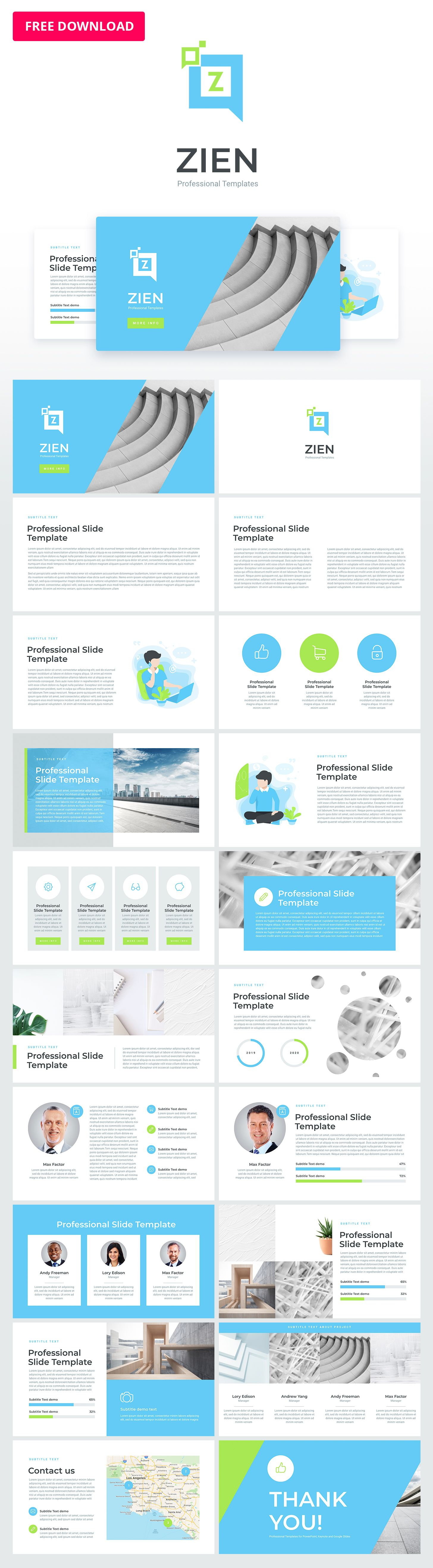 Zien Animated Powerpoint Template Powerpoint Template