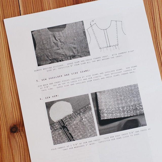 Image Of Wiksten Tova Sewing Pattern Downloadable Pdf Sewing