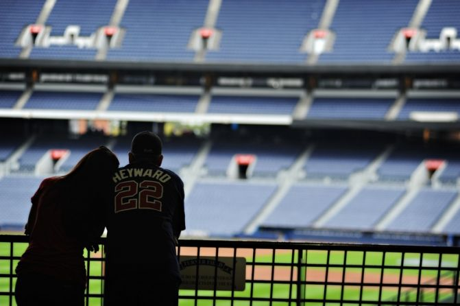 Turner-Field-Engagement-Jarrad-Brittany-at-stands