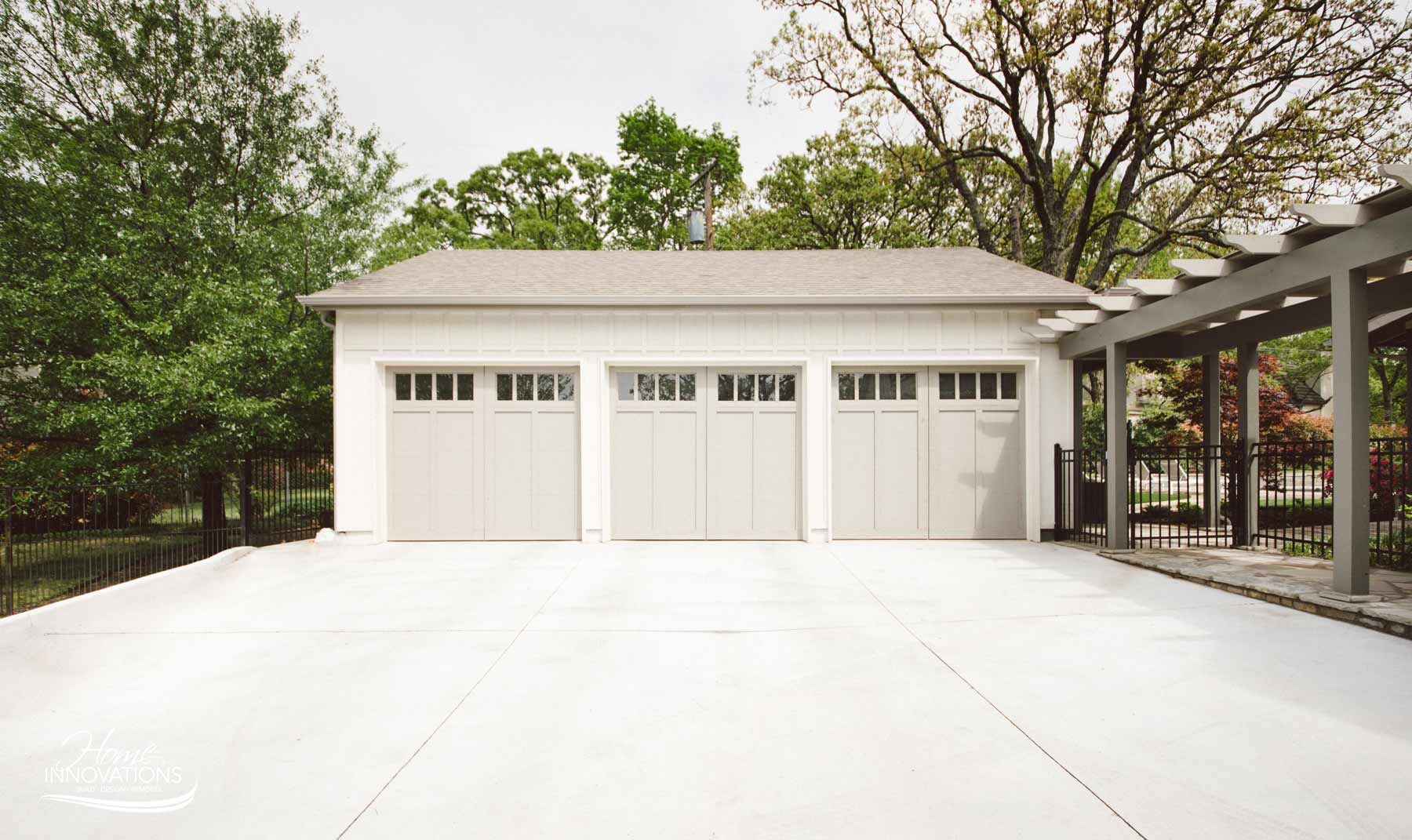 3 car detached garage addition with covered