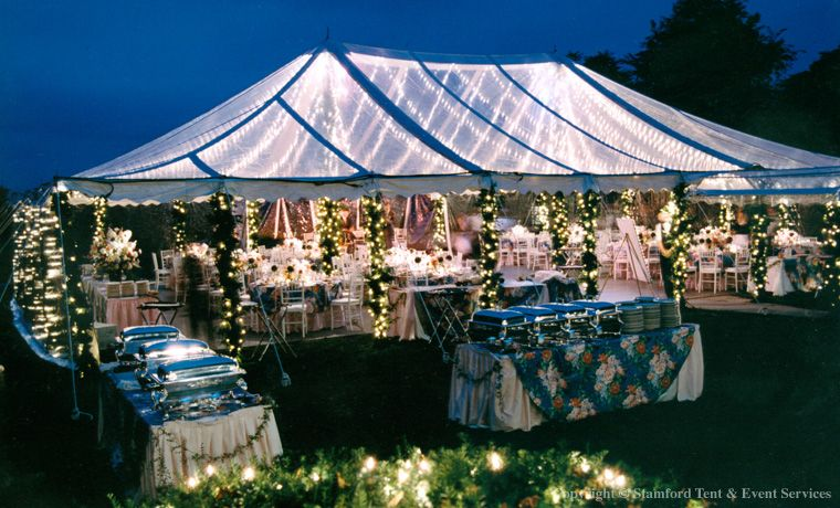 Clear Tents 40 X 60 Clear Pole Tent For A Wedding Reception At
